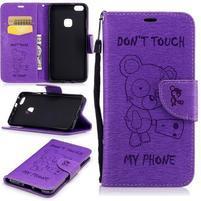BadBeer peňaženkové puzdro pre Huawei P10 Lite - fialové