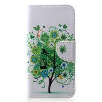 Emotive PU kožené puzdro na Huawei P20 - zelený strom