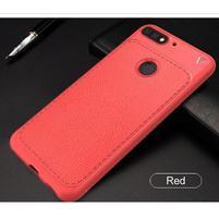LEN gélový obal s textúrou na Huawei Y7 Prime (2018) a Honor 7C - červený