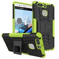 Outdoor ochranný kryt na mobil Huawei P9 - zelený