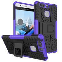 Outdoor ochranný kryt na mobil Huawei P9 - fialový