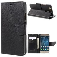 Crossy peňaženkové puzdro na Huawei P9 - čierne