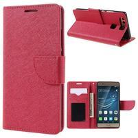 Crossy peněženkové pouzdro na Huawei P9 - červené