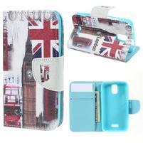 Peněženkové pouzdro na mobil Huawei Y3 a Y360 - United Kingdom