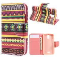 Peňaženkové puzdro na mobil Huawei Y3 a Y360 - tribal