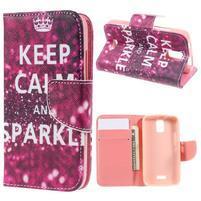 Peňaženkové puzdro na mobil Huawei Y3 a Y360 - Keep Calm