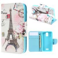 Peňaženkové puzdro na mobil Huawei Y3 a Y360 - Eiffelka