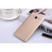 Zlatý kovový kryt na Samsung Galaxy A3