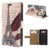 Peňaženkové puzdro pre Samsung Galaxy A3    - Eiffelova veža