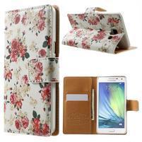 Peňaženkové zapínací puzdro na Samsung Galaxy A5 - růže elegant