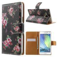 Peňaženkové zapínací puzdro na Samsung Galaxy A5 - růže