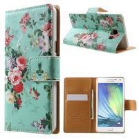 Peňaženkové zapínací puzdro na Samsung Galaxy A5 - kytice