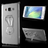 Transparentní gélový obal s nastavitelným stojánkem na Samsung Galaxy A5