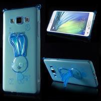 Modrý gélový obal s nastavitelným stojánkem na Samsung Galaxy A5
