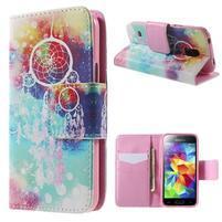 Zapínací peňaženkové puzdro pre Samsung Galaxy S5 mini - snívanie