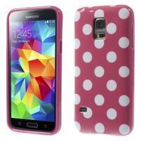 Rose puntíkatý gelový obal na Samsung Galaxy S5 mini