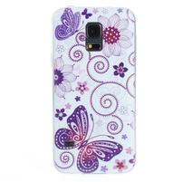 Ultra tenký gélový obal Samsung Galaxy S5 mini - motýlek