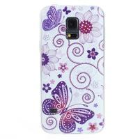 Ultra tenký gelový obal Samsung Galaxy S5 mini - motýlek
