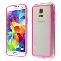 Rose gélový kryt s plastovými lemy pre Samsung Galaxy S5 mini