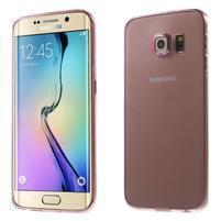 Ultra tenký gélový obal na Samsung Galaxy S6 Edge - rose