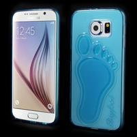 Protiskluzový gélový kryt pre Samsung Galaxy S6 - modrý
