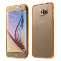 Oranžový hybridný gélový obal na Samsung Galaxy S6 Edge