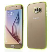 Světle žltý hybridný gélový obal na Samsung Galaxy S6 Edge