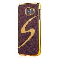 Elegantný plastový kryt na Samung Galaxy S6 - fialový