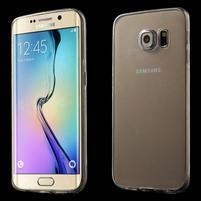 Ultra tenký gélový obal na Samsung Galaxy S6 Edge - tranparentní