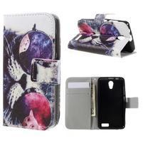 Styles peňaženkové puzdro pre mobil Lenovo A319 - kocour