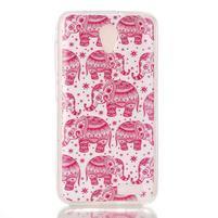 Softy gelový obal na mobil Lenovo A319 - růžoví sloni