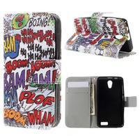 Styles peňaženkové puzdro pre mobil Lenovo A319 - graffiti