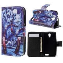 Styles peňaženkové puzdro pre mobil Lenovo A319 - vlci