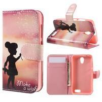 Styles peňaženkové puzdro pre mobil Lenovo A319 - dievčatko