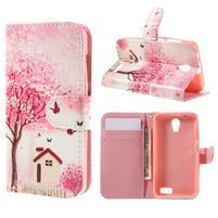 Styles peňaženkové puzdro pre mobil Lenovo A319 - domov