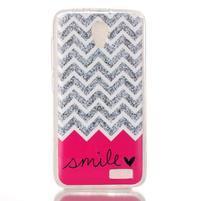 Softy gélový obal pre mobil Lenovo A319 - smile