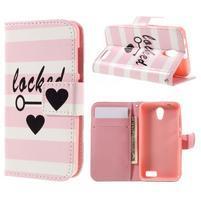 Styles peňaženkové puzdro pre mobil Lenovo A319 - láska