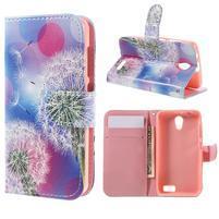 Styles peňaženkové puzdro pre mobil Lenovo A319 - púpava
