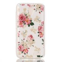 Softy gélový obal pre mobil Lenovo A319 - kvetiny