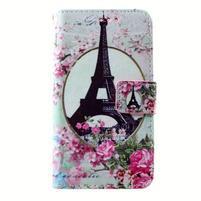 Peňaženkové puzdro pre mobil Lenovo A319 - Eiffelova veža