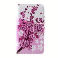 Peňaženkové puzdro pre mobil Lenovo A319 - kvitnúca vetva