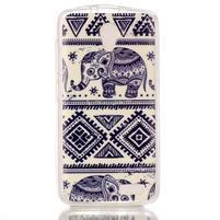 Softy gélový obal pre mobil Lenovo A319 - slony