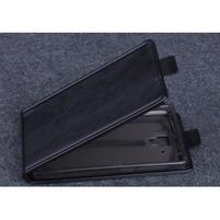 PU kožené flipové puzdro na Lenovo A536 - čierne
