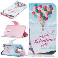 Emotive knížkové puzdro pre mobil Lenovo Moto G4 a G4 Plus - Valentýn