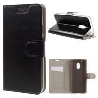 Horse PU kožené puzdro pre mobil Lenovo Moto G4 Play - čierny