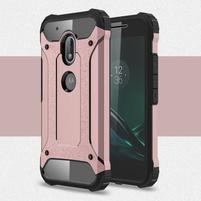 Armory odolný obal pre mobil Lenovo Moto G4 Play - ružovozlatý