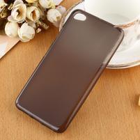 Matný gélový obal pre mobil Lenovo S60 - čierny