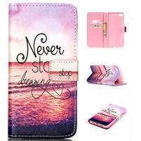 Style peňaženkové puzdro pre mobil Lenovo S90 - neprestávaj sniet