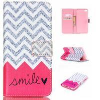 Style peňaženkové puzdro pre mobil Lenovo S90 - smile