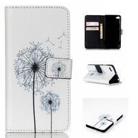 Style peňaženkové puzdro pre mobil Lenovo S90 - púpava